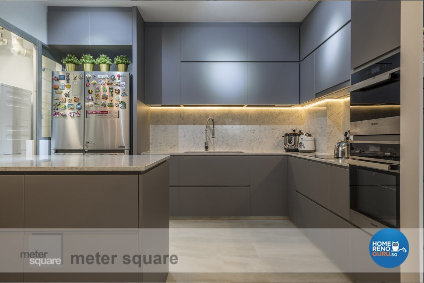 Contemporary, Minimalist, Modern Design - Kitchen - HDB 5 Room - Design by Meter Square Pte Ltd