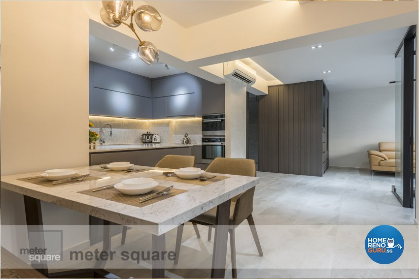 Contemporary, Minimalist, Modern Design - Dining Room - HDB 5 Room - Design by Meter Square Pte Ltd