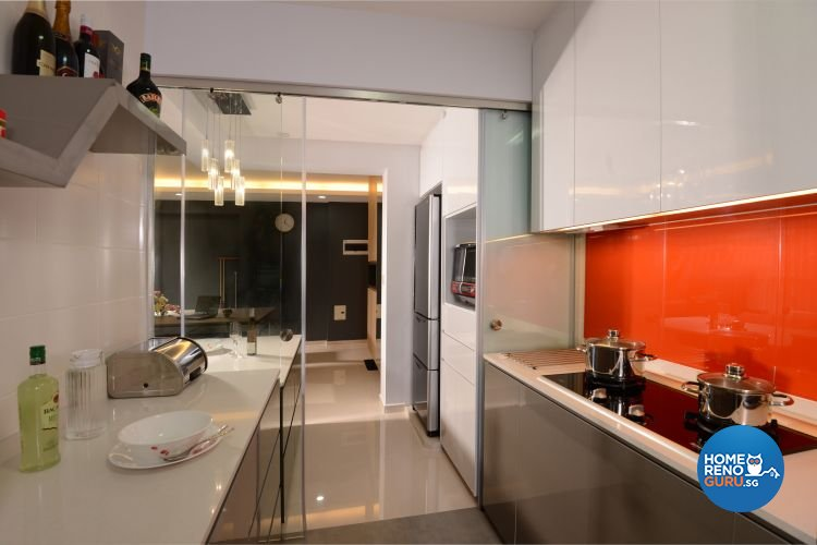 Contemporary, Modern Design - Kitchen - HDB 5 Room - Design by Meter Square Pte Ltd