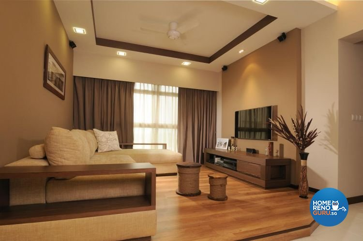 Contemporary, Resort, Tropical Design - Living Room - HDB 5 Room - Design by Meter Square Pte Ltd