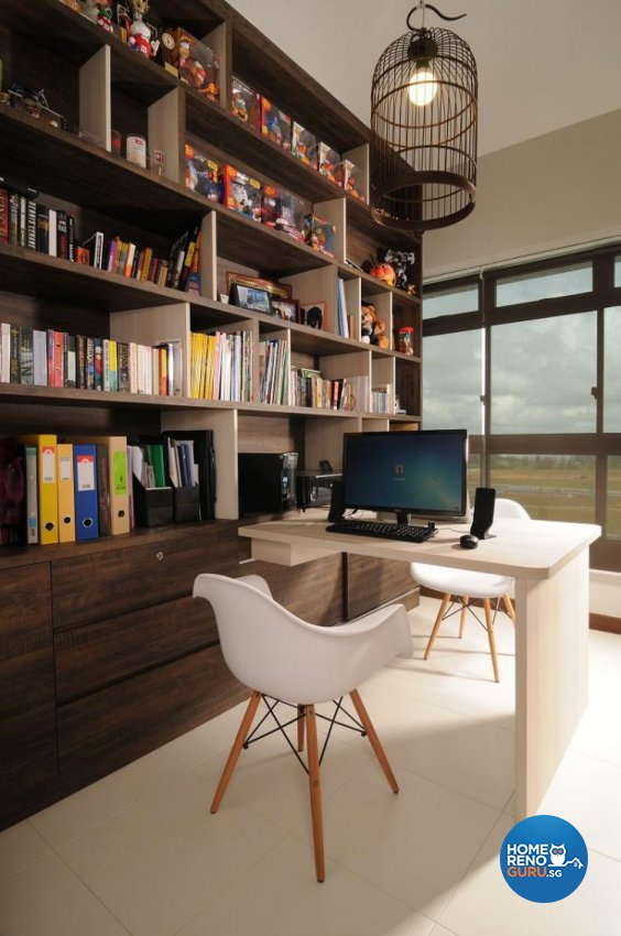 Contemporary, Resort, Tropical Design - Study Room - HDB 5 Room - Design by Meter Square Pte Ltd