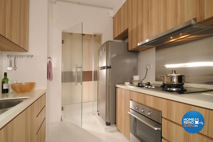 Contemporary, Resort, Tropical Design - Kitchen - HDB 5 Room - Design by Meter Square Pte Ltd