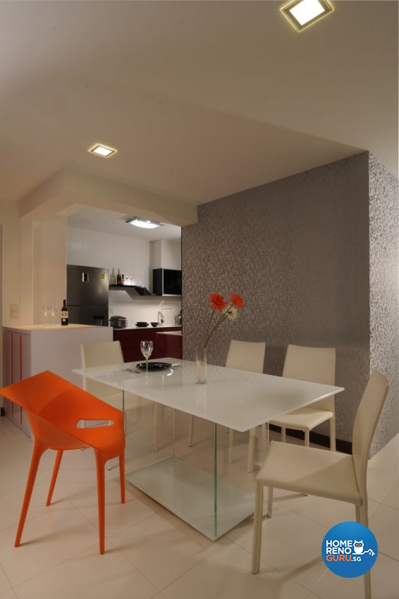 Modern, Retro Design - Dining Room - HDB 5 Room - Design by Meter Square Pte Ltd