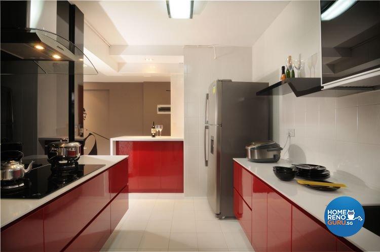 Modern, Retro Design - Kitchen - HDB 5 Room - Design by Meter Square Pte Ltd