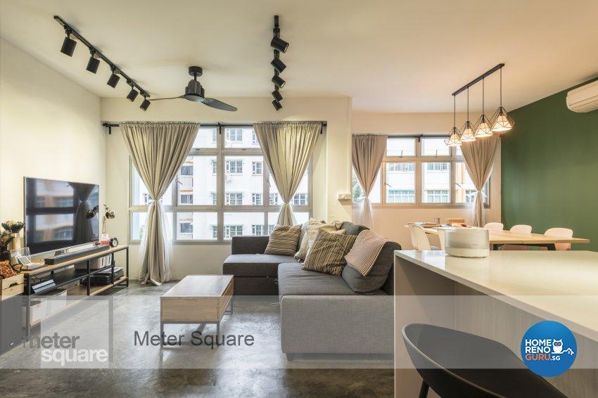 Modern, Vintage Design - Living Room - HDB 3 Room - Design by Meter Square Pte Ltd