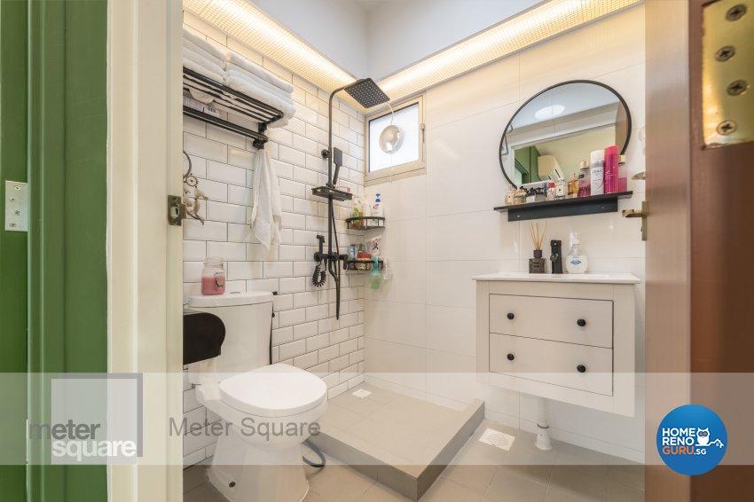 Modern, Vintage Design - Bathroom - HDB 3 Room - Design by Meter Square Pte Ltd