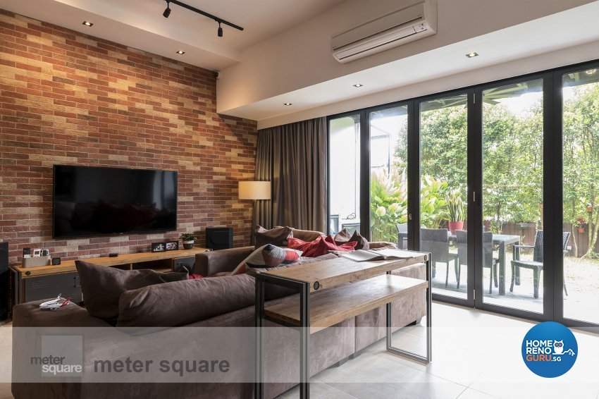 Industrial, Retro, Vintage Design - Living Room - Condominium - Design by Meter Square Pte Ltd