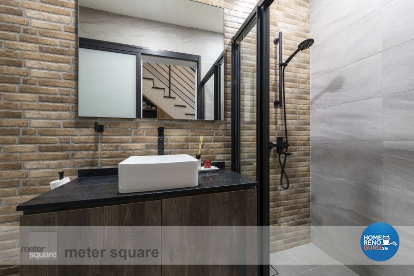 Industrial, Retro, Vintage Design - Bathroom - Condominium - Design by Meter Square Pte Ltd