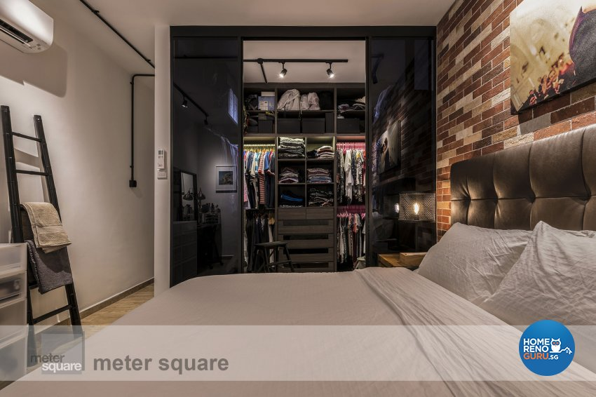 Industrial, Retro, Vintage Design - Bedroom - Condominium - Design by Meter Square Pte Ltd