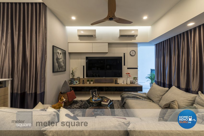 Classical, Contemporary Design - Living Room - Condominium - Design by Meter Square Pte Ltd