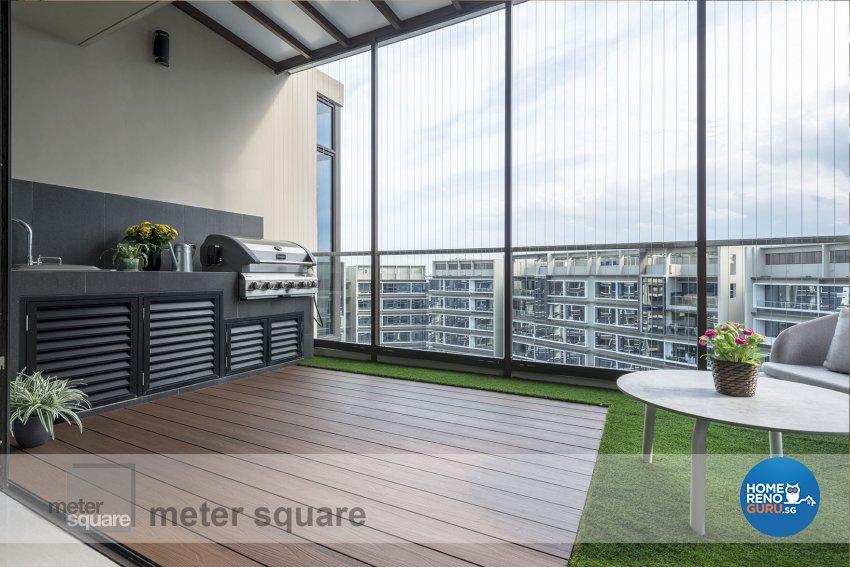 Classical, Contemporary Design - Balcony - Condominium - Design by Meter Square Pte Ltd