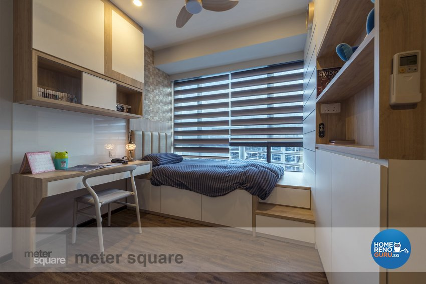Classical, Contemporary Design - Bedroom - Condominium - Design by Meter Square Pte Ltd