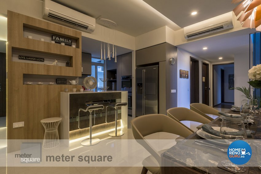 Classical, Contemporary Design - Kitchen - Condominium - Design by Meter Square Pte Ltd