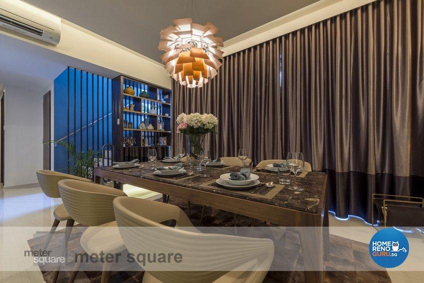 Classical, Contemporary Design - Dining Room - Condominium - Design by Meter Square Pte Ltd