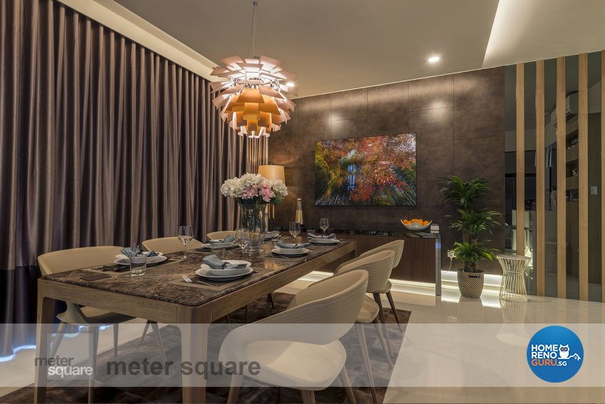 Classical, Contemporary Design - Dining Room - Condominium - Design by Meter Square Pte Ltd