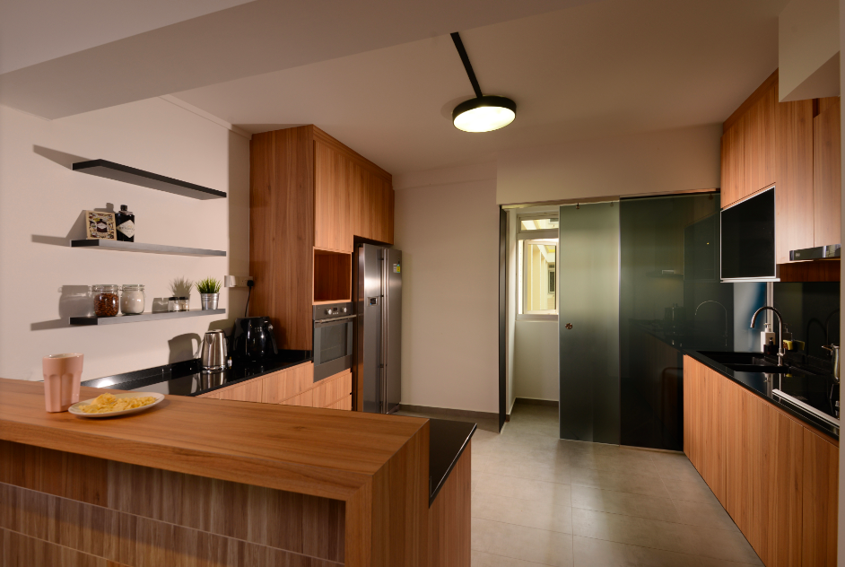 Contemporary, Industrial, Modern Design - Kitchen - HDB Executive Apartment - Design by Meter Square Pte Ltd