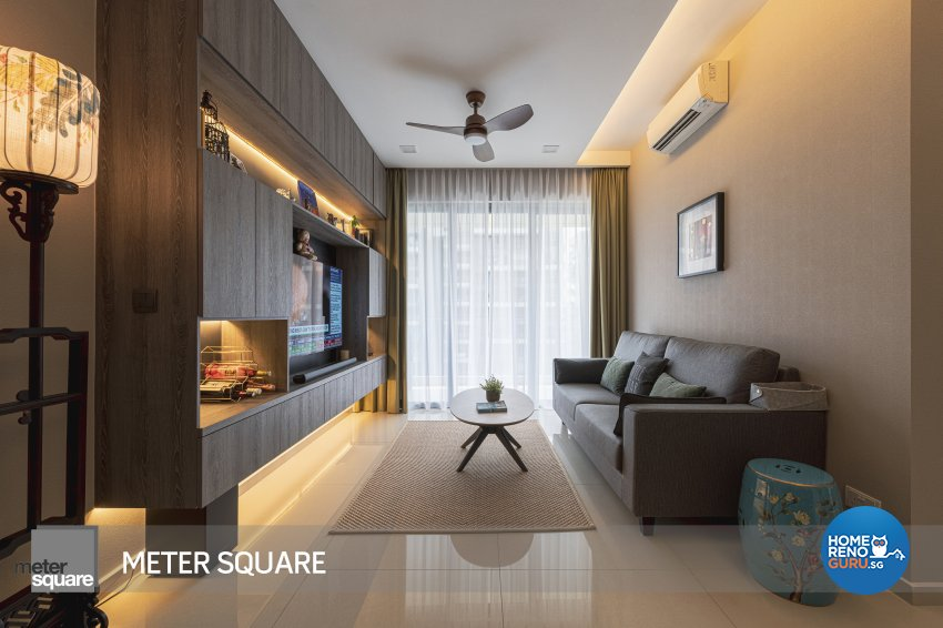 Modern, Oriental Design - Living Room - Condominium - Design by Meter Square Pte Ltd