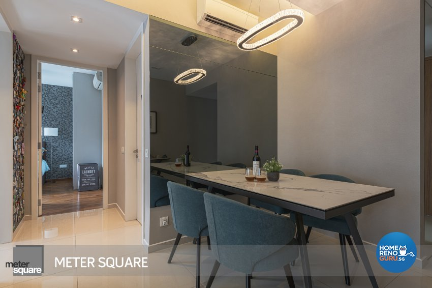 Modern, Oriental Design - Dining Room - Condominium - Design by Meter Square Pte Ltd