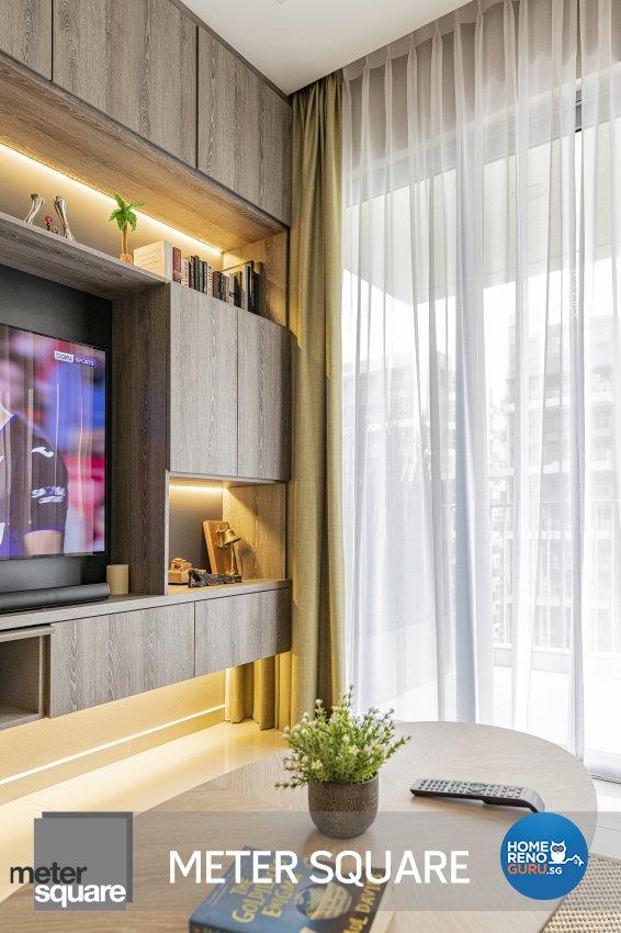 Modern, Oriental Design - Living Room - Condominium - Design by Meter Square Pte Ltd