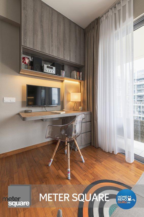 Modern, Oriental Design - Study Room - Condominium - Design by Meter Square Pte Ltd
