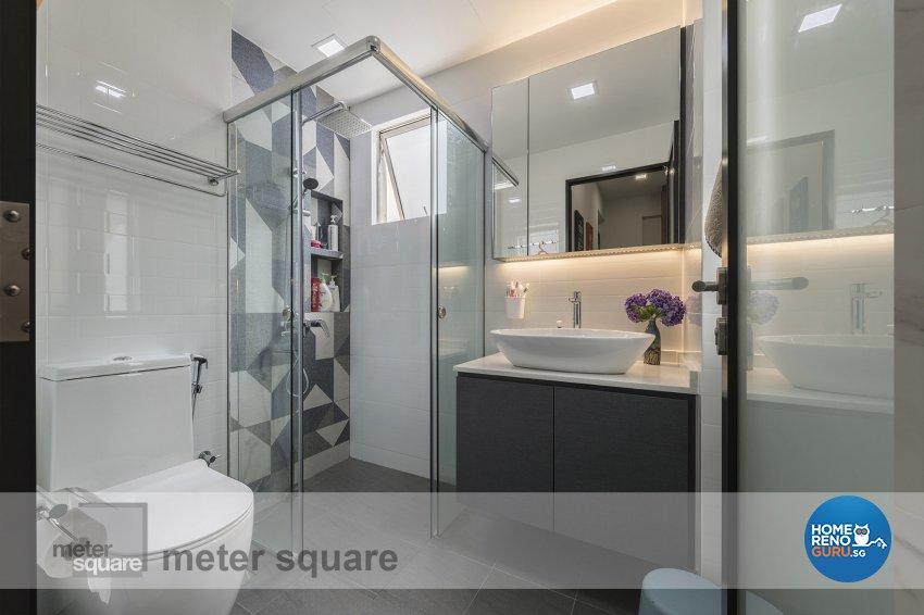 Contemporary, Modern Design - Bathroom - Condominium - Design by Meter Square Pte Ltd
