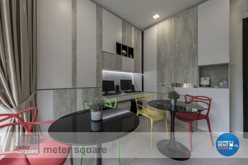 Contemporary, Modern Design - Study Room - Condominium - Design by Meter Square Pte Ltd