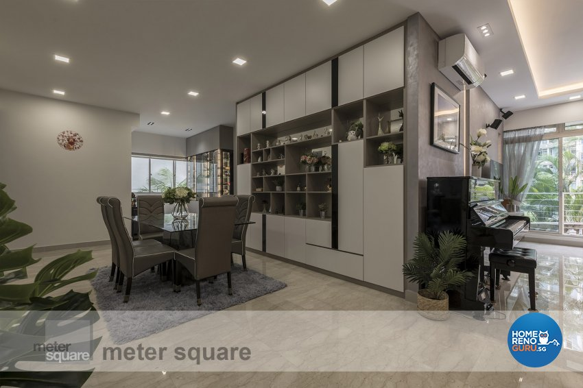 Contemporary, Modern Design - Dining Room - Condominium - Design by Meter Square Pte Ltd