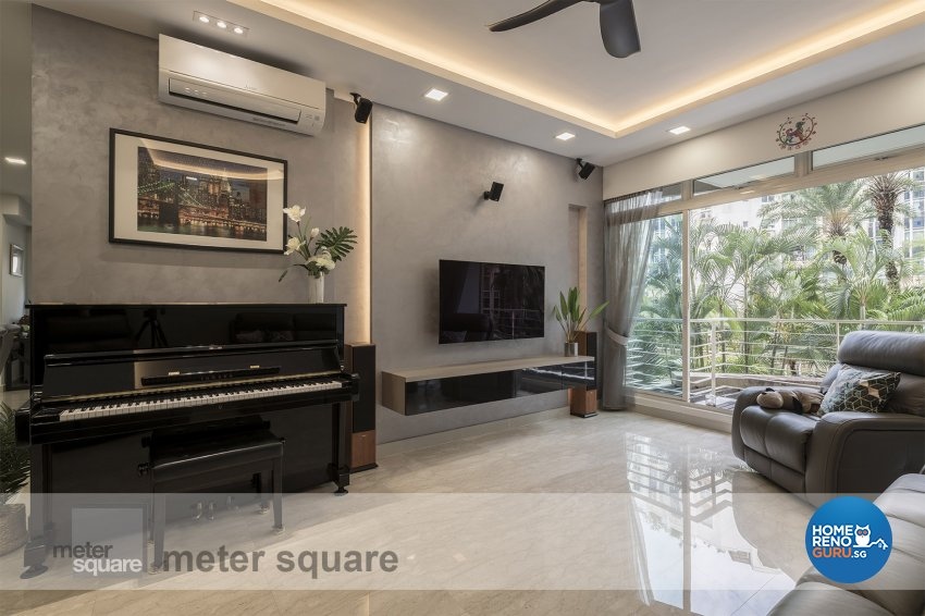 Contemporary, Modern Design - Living Room - Condominium - Design by Meter Square Pte Ltd