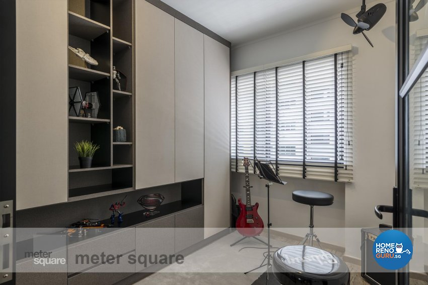 Contemporary Design - Entertainment Room - HDB 5 Room - Design by Meter Square Pte Ltd