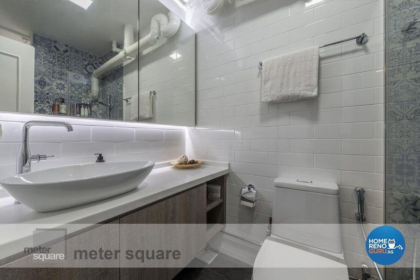 Contemporary Design - Bathroom - HDB 5 Room - Design by Meter Square Pte Ltd