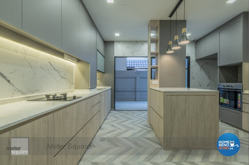 Contemporary, Modern Design - Kitchen - Landed House - Design by Meter Square Pte Ltd