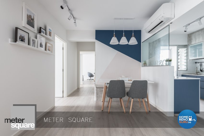 Modern, Scandinavian Design - Dining Room - HDB 4 Room - Design by Meter Square Pte Ltd
