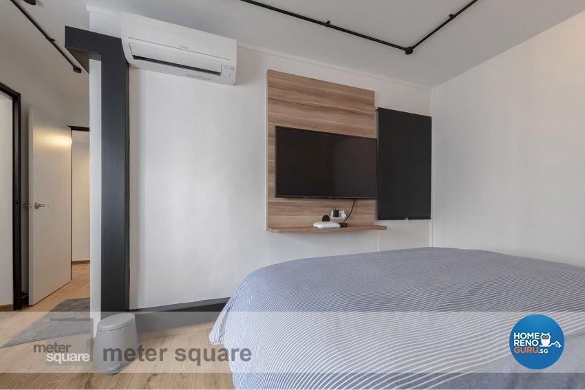 Industrial, Scandinavian Design - Bedroom - HDB 5 Room - Design by Meter Square Pte Ltd