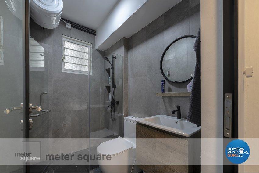 Industrial, Scandinavian Design - Bathroom - HDB 5 Room - Design by Meter Square Pte Ltd
