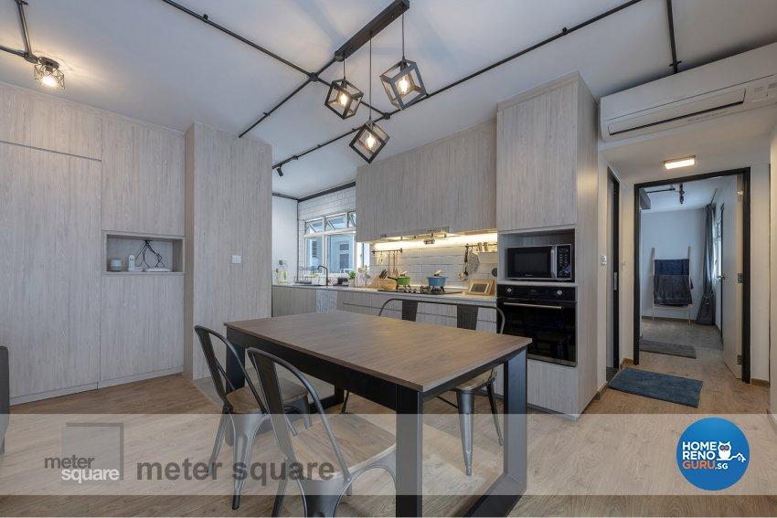 Industrial, Scandinavian Design - Dining Room - HDB 5 Room - Design by Meter Square Pte Ltd