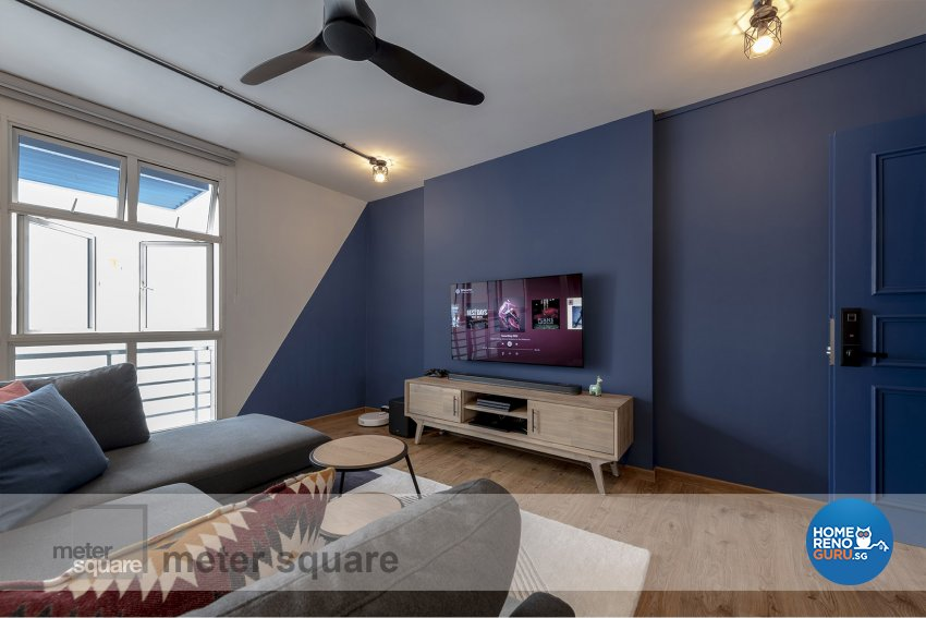 Industrial, Scandinavian Design - Living Room - HDB 5 Room - Design by Meter Square Pte Ltd