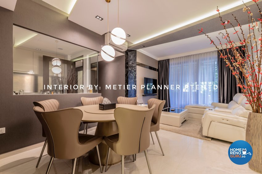 Contemporary, Modern, Resort Design - Dining Room - Condominium - Design by Metier Planner Pte Ltd
