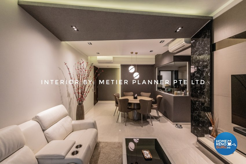 Contemporary, Modern, Resort Design - Living Room - Condominium - Design by Metier Planner Pte Ltd