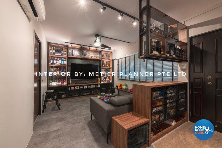 Industrial, Modern, Rustic Design - Living Room - HDB 4 Room - Design by Metier Planner Pte Ltd