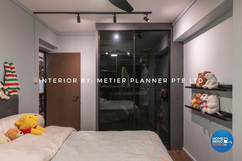 Industrial, Modern, Rustic Design - Bedroom - HDB 4 Room - Design by Metier Planner Pte Ltd
