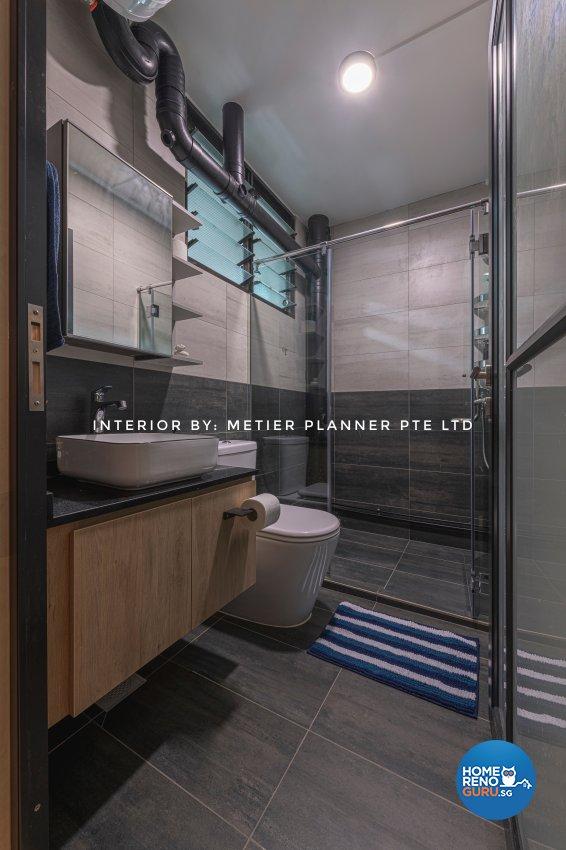 Industrial, Modern, Rustic Design - Bathroom - HDB 4 Room - Design by Metier Planner Pte Ltd
