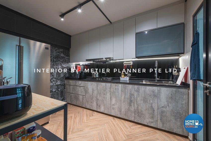 Industrial, Modern, Rustic Design - Kitchen - HDB 4 Room - Design by Metier Planner Pte Ltd