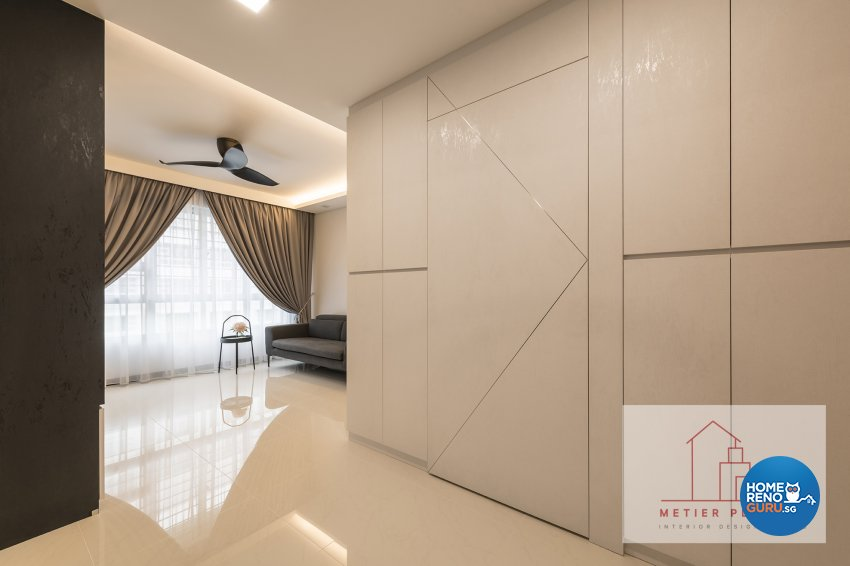 Contemporary, Minimalist, Modern Design - Living Room - HDB 4 Room - Design by Metier Planner Pte Ltd