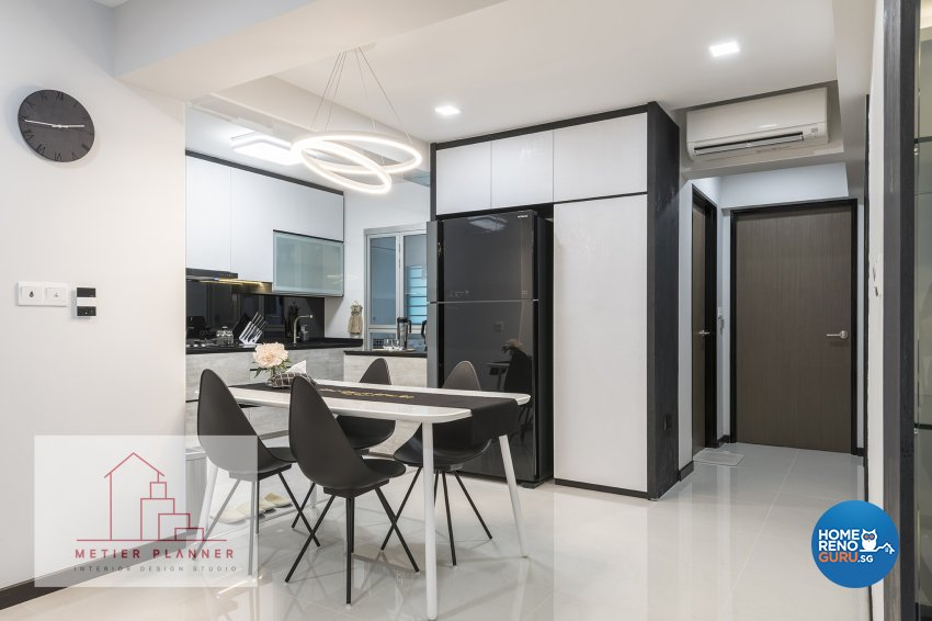 Contemporary, Minimalist, Modern Design - Dining Room - HDB 4 Room - Design by Metier Planner Pte Ltd