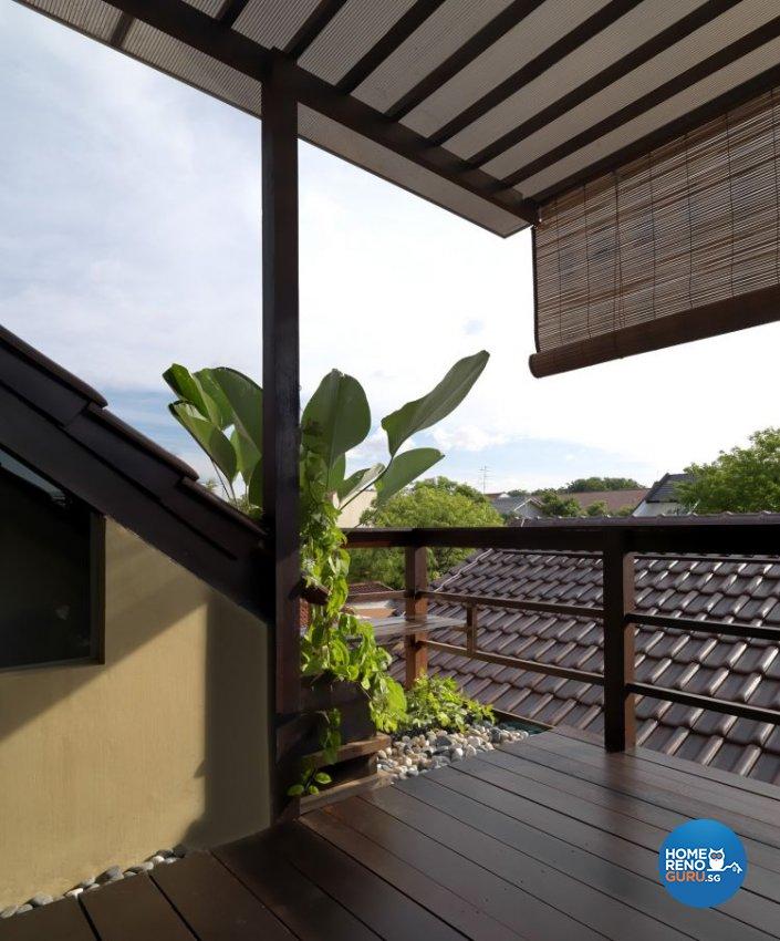 Resort, Tropical Design - Balcony - Landed House - Design by Milan Interior Design Pte Ltd
