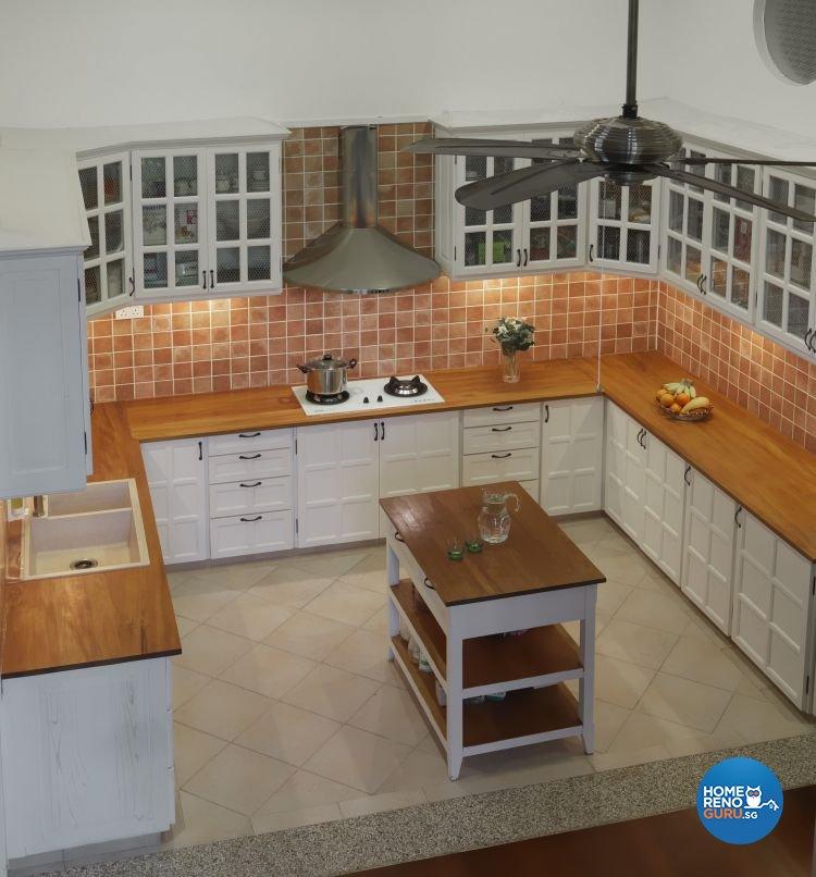 Resort, Tropical Design - Kitchen - Landed House - Design by Milan Interior Design Pte Ltd