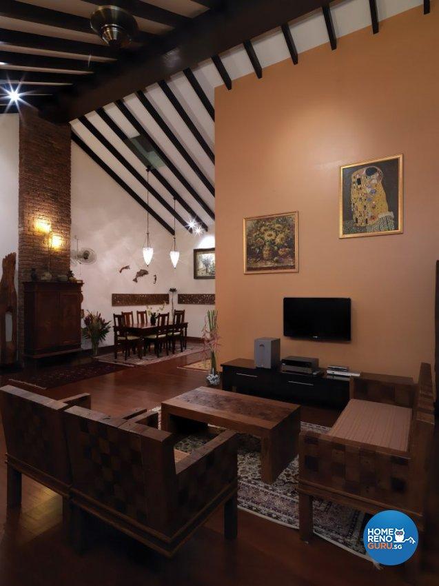 Resort, Tropical Design - Entertainment Room - Landed House - Design by Milan Interior Design Pte Ltd
