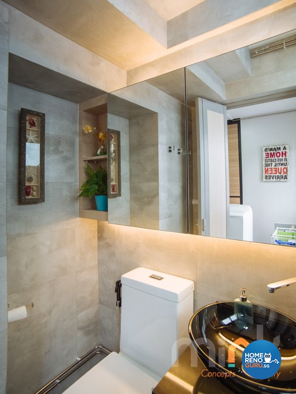 Resort, Scandinavian Design - Bathroom - HDB 4 Room - Design by MINK DESIGN PTE LTD