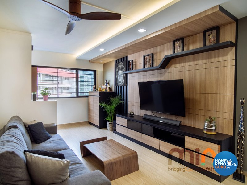 Resort, Scandinavian Design - Living Room - HDB 4 Room - Design by MINK DESIGN PTE LTD