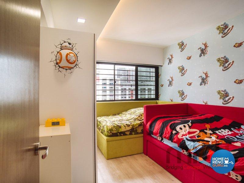 Resort, Scandinavian Design - Bedroom - HDB 4 Room - Design by MINK DESIGN PTE LTD
